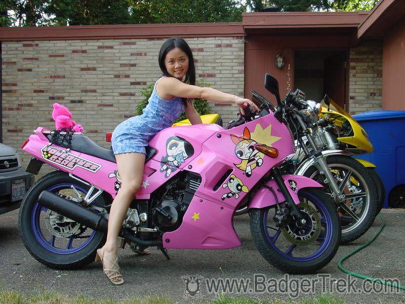 Kawasaki EX250 Ninja Front Amy On Powerpuff