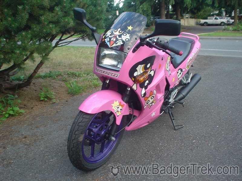 BadgerTrek: Powerpuff Kawasaki Ninja 250