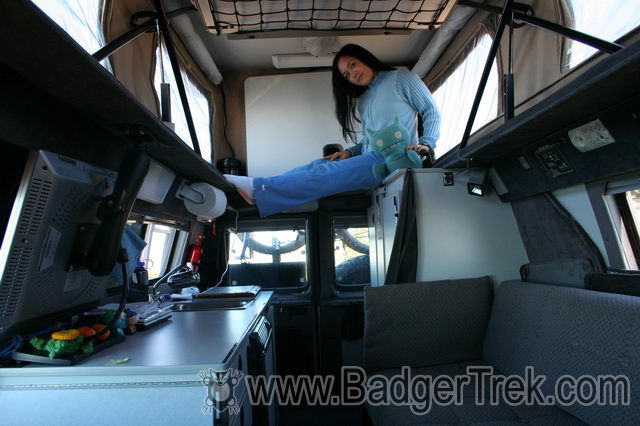 Interior on ford econoline extended cargo van