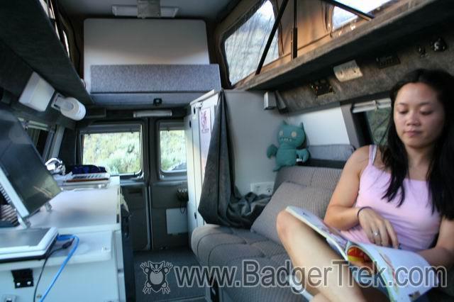 BadgerTrek: Sportsmobile Interior